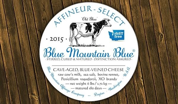 Blue Mountain Affinage label